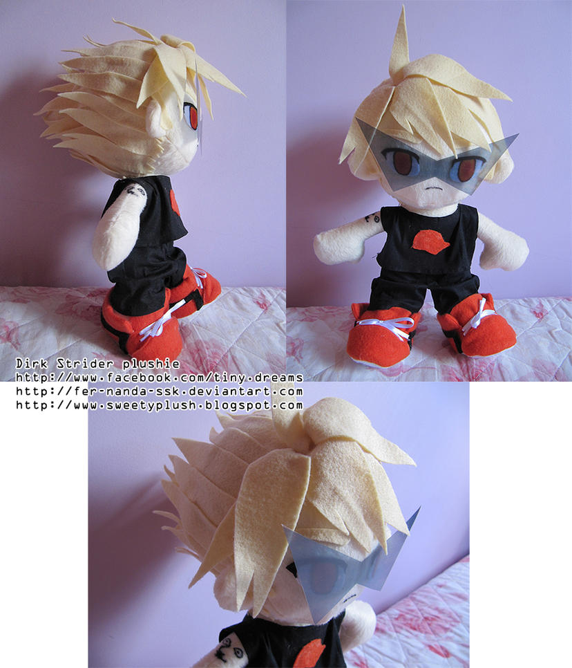Dirk Strider plushie commission by fer-nanda-ssk