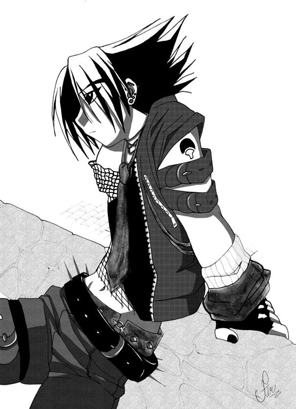 Sasuke_in_BW_by_fer_nanda_ssk