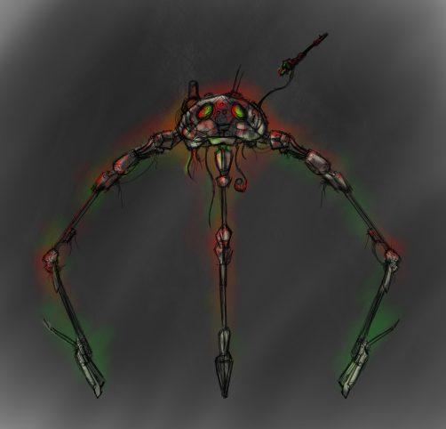 Martian Walker- Concept Art by Garsondee