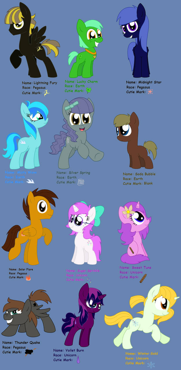 12 New Mlpfim Ocs By Pupster0071 On Deviantart