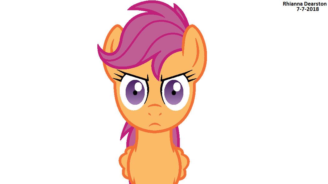 Scootaloo Staring 2 By Pupster0071 On Deviantart