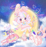 [Adopt] Bubble Bunny by Moyll