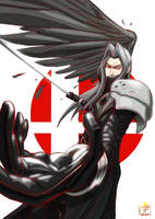 Sephiroth (Final Fantasy) by acecore2k