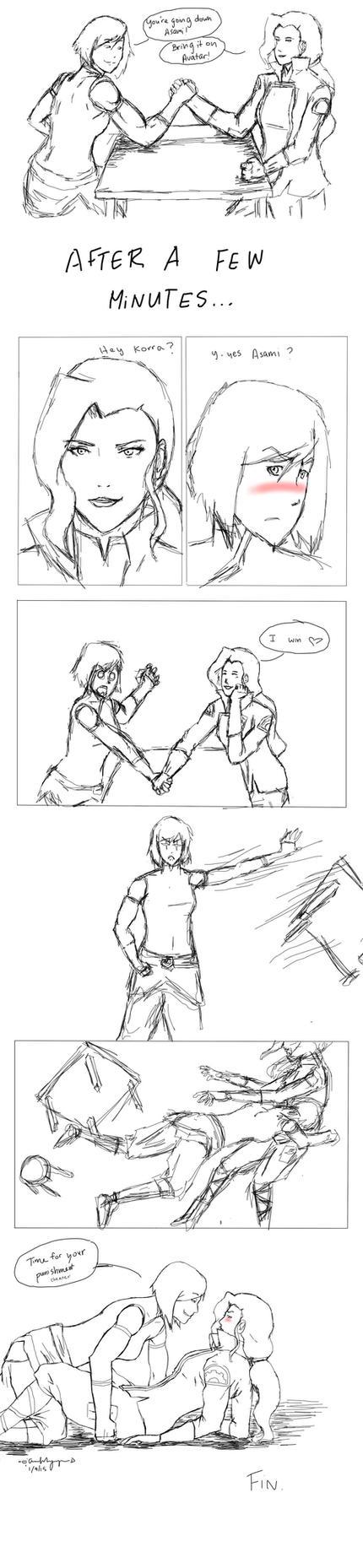 Arm Wrestling by anfu-yukiro