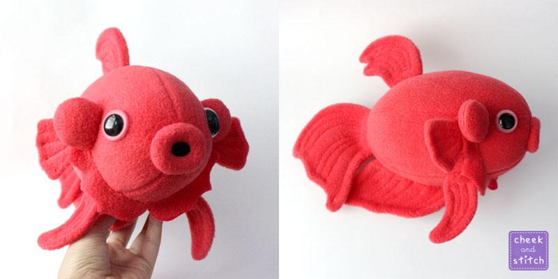 Betta fish plush by yumcha on deviantart for Toys for betta fish