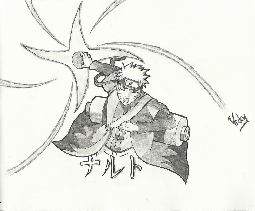 Naruto(Sage Mode) usin... Naruto Uzumaki Sage Mode Drawing