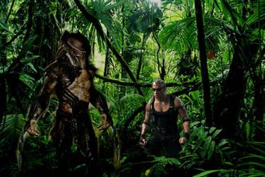 BEST CROSSOVER MOVIE EVER: RIDDICK VS PREDATORS by Darth-Slayer
