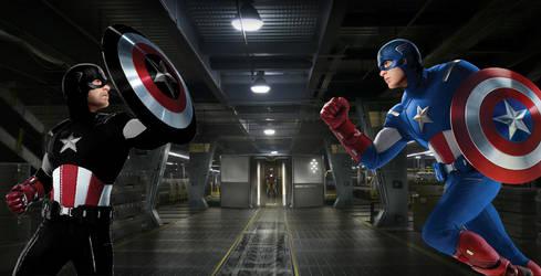 US AGENT VS Captain America by Darth-Slayer