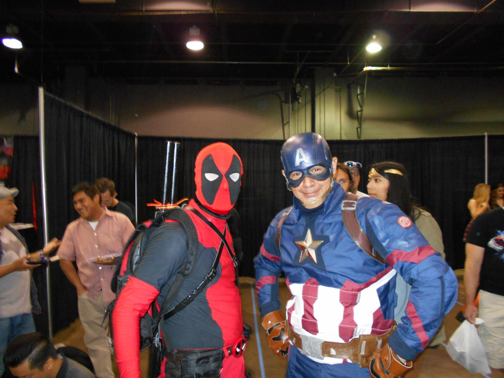 DEADPOOL and Cap (Uncanny Avengers Assemble!) by Darth-Slayer