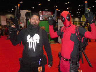 DEADPOOL and Punisher by Darth-Slayer