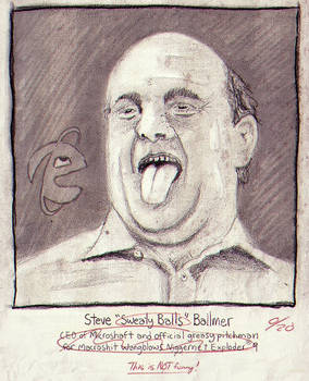 Steve 'Sweaty Balls' Ballmer - Drawing Sketch