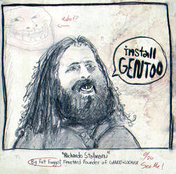 Richardo 'Stallmanu' Stallman - Sketch Drawing