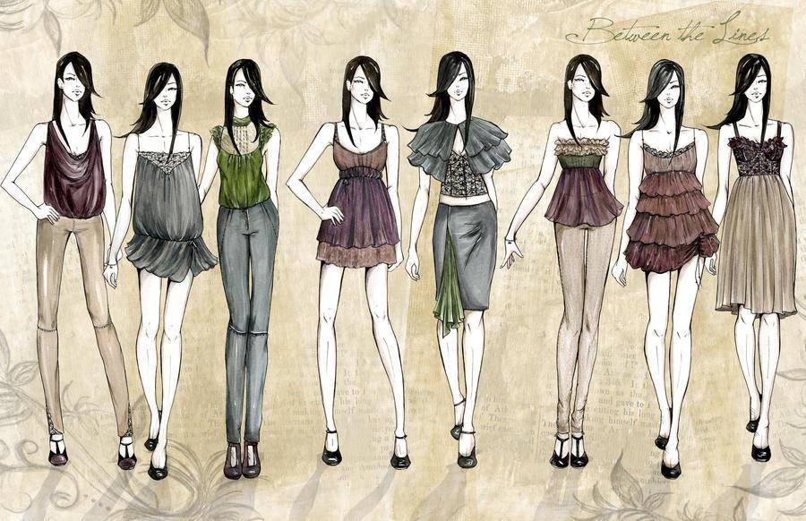 Line In Fashion Design : Fashion line up by f rbiddenl ve on deviantart