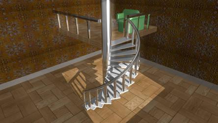 _Simple Stairway Scene. Days_