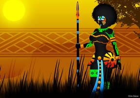 QUEEN AFRICA by yangzeninja