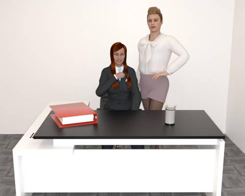 A Business Woman and her Bimbo Secretary
