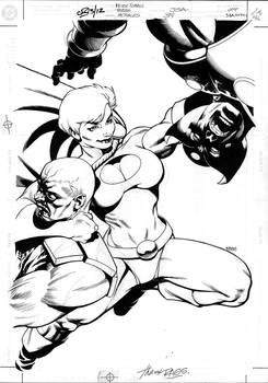 JSA 38 cover by Rags Morales