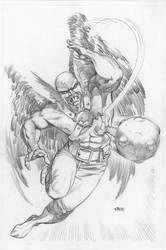 Hawkman pencil Pinup by RagsMorales