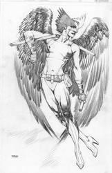 Hawkgirl pencil Pinup