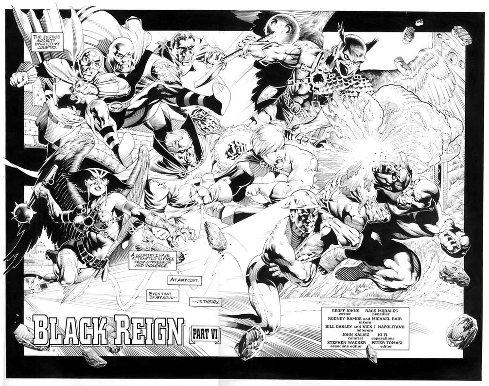 Hawkman No.25 pg. 2+3 by RagsMorales