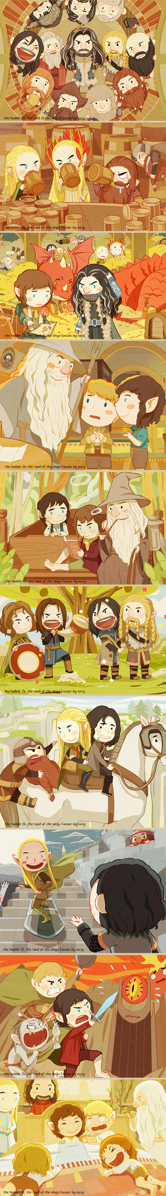 little LotR and tH by navy-locked