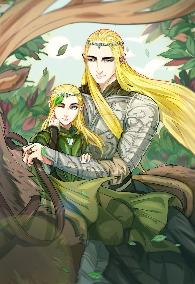 Young Legolas and Thranduil by navy-locked