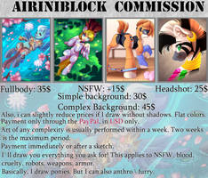 Commissions are closed until September 1st by AiriniBlock