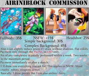 AiriniBlock Commission Sheet: 2019 \\OPEN\\ by AiriniBlock