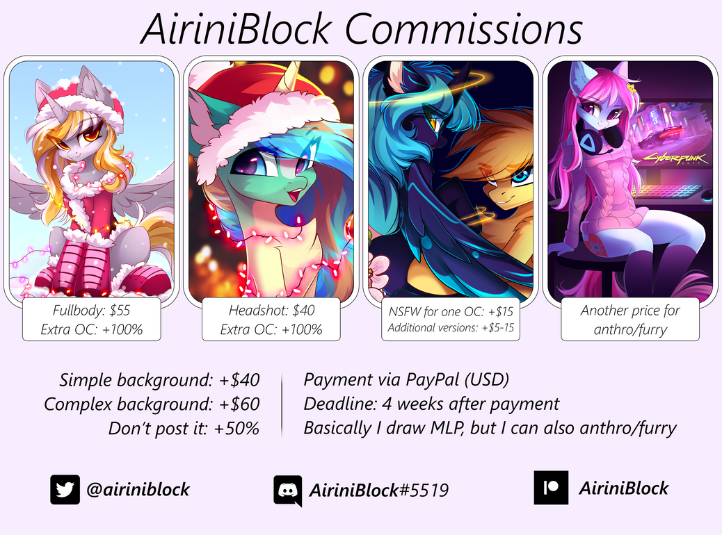 The commissions are CLOSED!