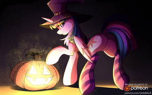 Twilight Sparkle Halloween~ by AiriniBlock
