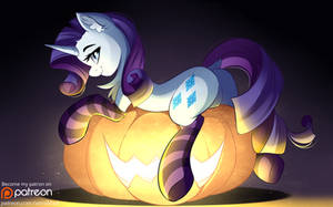 Rarity Halloween by AiriniBlock