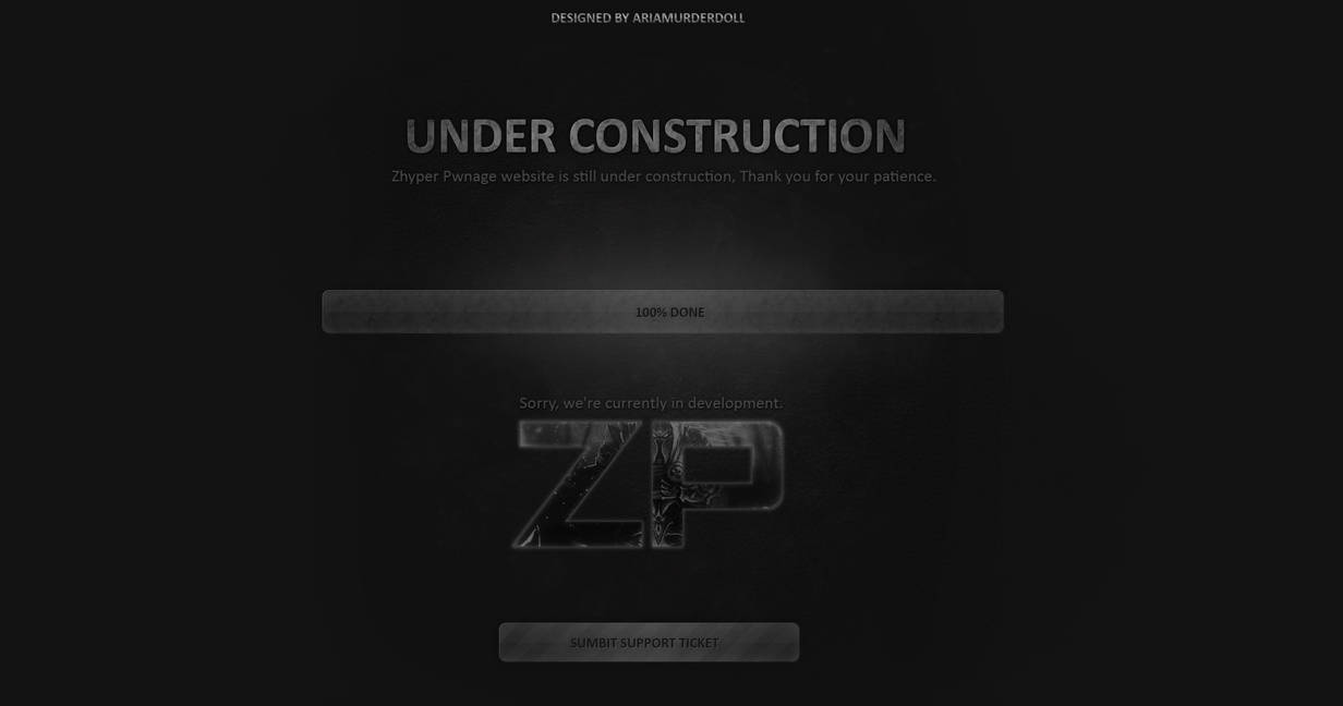 Website Under Construction Wallpaper By Avemariaarianora