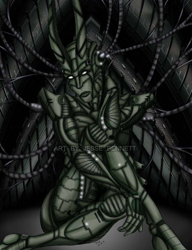 Biomechanical demon girl by blueliberty on DeviantArt
