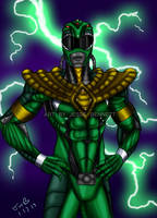 Bio-mechanical Green Ranger by blueliberty