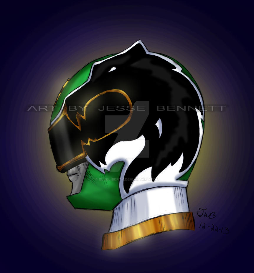 power rangers megaforce green ranger by blueliberty on deviantart
