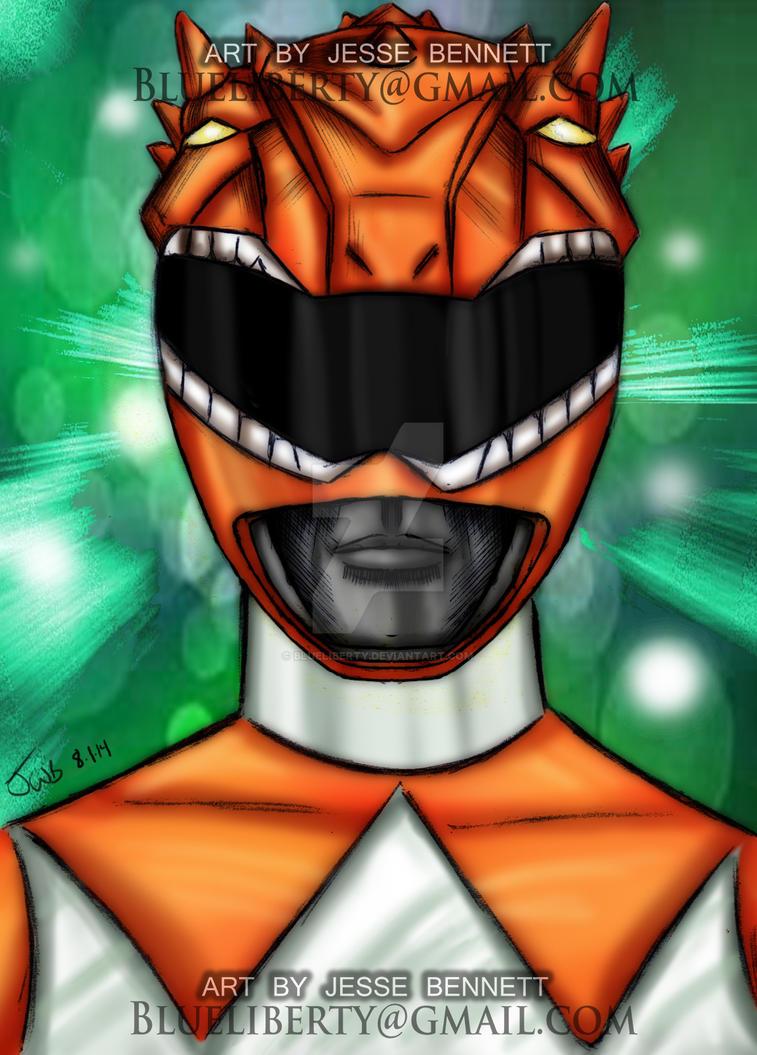 mighty morphin orange ranger by blueliberty on deviantart
