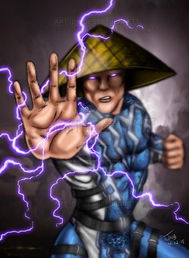 Raiden Mortal Kombat by blueliberty