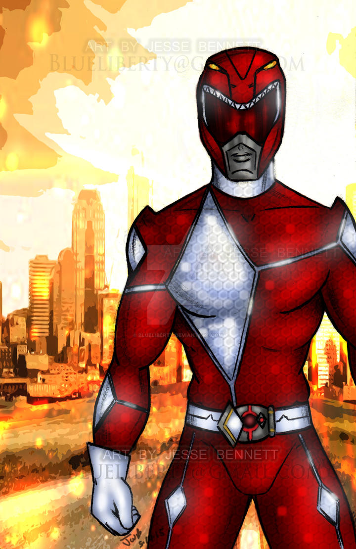 Mmpr Redesign Red Ranger by blueliberty
