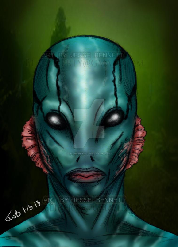 Abe Sapien hellboy by blueliberty