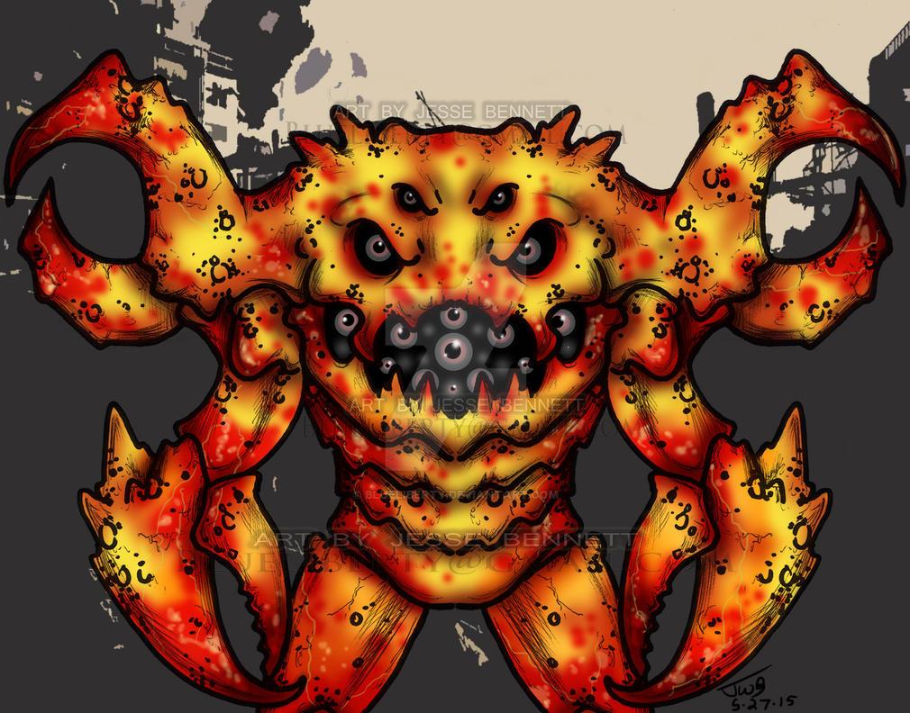 Crabbix Monster (concept) by blueliberty