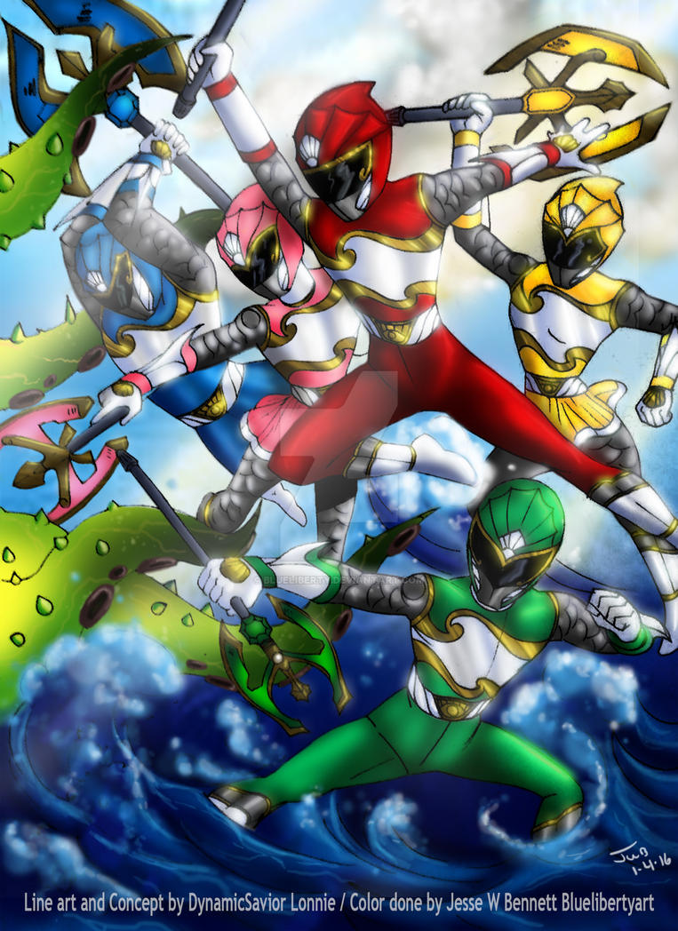 PowerRanger Collaboration art withDynamicSavor by blueliberty