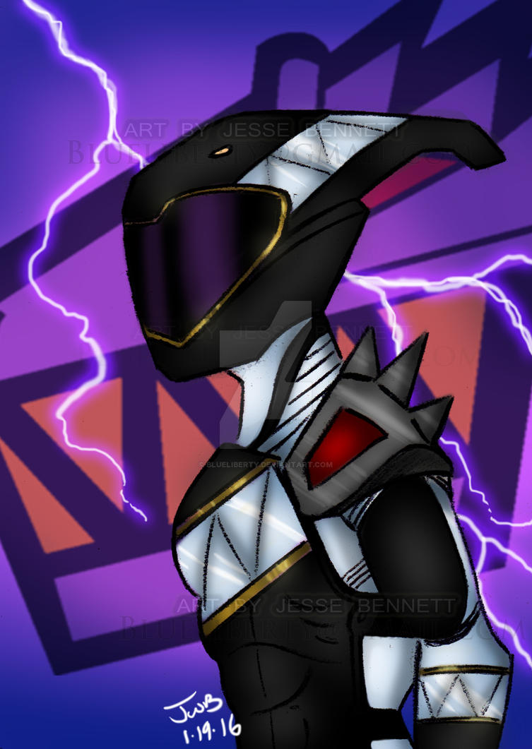 Whimisical Dino Charge Black Ranger by blueliberty