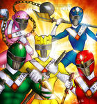 Go Ninja Power Ranger Concept art by me!