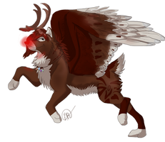 Ally the Red-Nosed Reindeer ~ {Giftie} by Jackkdaw