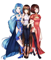 Commission - Velleda, Mahel, Alvexia by Chance-To-Draw