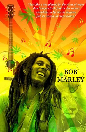 bob marley poster by awakeningsoul on deviantart. Black Bedroom Furniture Sets. Home Design Ideas