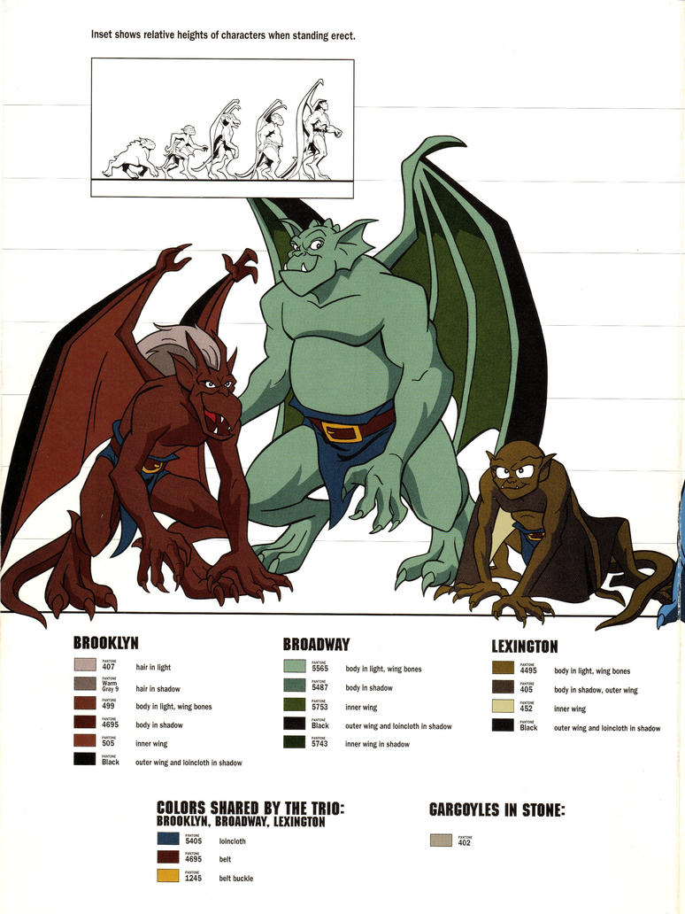 gargoyles characters coloring pages - photo#30