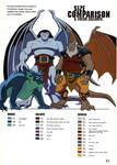 Gargoyles size and color chart - 4