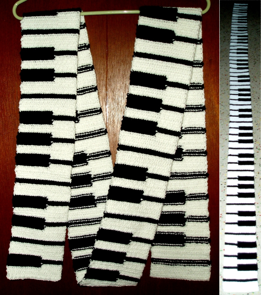 Piano Scarf by gabiemiller