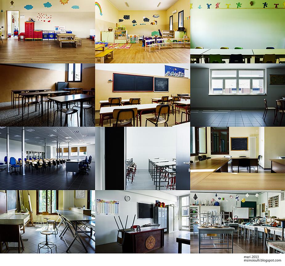 empty classrooms by NetherworldQueen